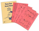 Theory Time Answer Sheets for Kindergarten, 1st & 2nd Grade