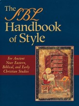 The SBL Handbook of Style --Slightly Imperfect