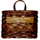 Love Deeply, Listen Patiently, Forgive Freely Mail Basket