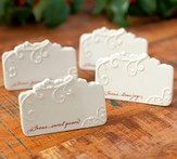 Love Came Down Ceramic Place Cards, Set of 4