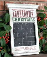 Countdown to Christmas Advent Chalkboard Calendar