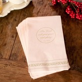 Flickers of Gold, the Lord Will Give grace Napkins, Package of 16
