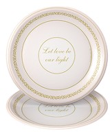 Flickers of Gold, Let Love By Our Light Dinner Plates