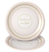 Flickers of Gold, Let Love By Our Light Dessert Plates