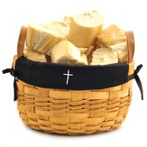Cross Bowl Basket, Black Liner