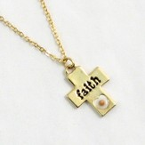 Mustard Seed Cross Pendant, Faith
