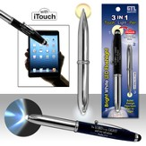 3 in 1: iTouch, Light, Pen, Black