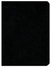 NASB Large-Print UltraThin Reference Bible--genuine leather, black - Imperfectly Imprinted Bibles