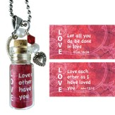 Love, Let All You Do, Message In A Bottle Necklace