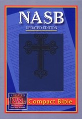 NASB Compact Leatherflex Bible, Blue with Cross