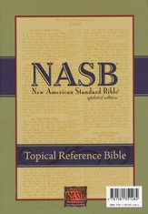 NASB Topical Reference Bible, Bonded Leather , Black
