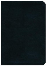 NASB Side-column Reference Wide Margin Bible - Leathertex, Black