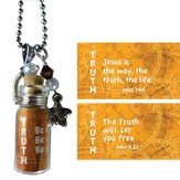 Truth, Jesus Is the Way, Message In A Bottle Necklace