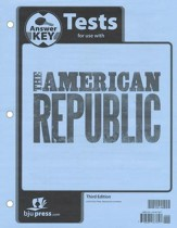 BJU Heritage Studies: The American Republic Grade 8 Tests Packet  Answer Key (Third Edition)