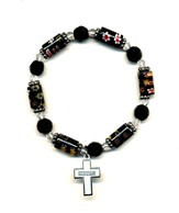 Bead Bracelet with Cross, Sister