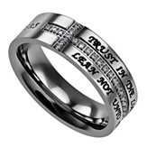 Trust, Crescent Women's Ring, Size 8 (Proverbs 3:5)