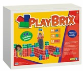 PlayBrix Cardboard Building Bricks - Set of 54 Assorted