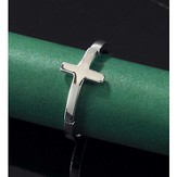 Horizontal Cross Ring, Size 9
