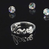 Love Word Ring, Size 8