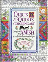 Amish Quilts and Quotes, Adult Coloring Book