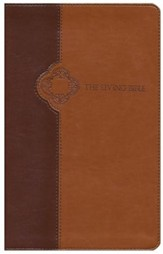 The Living Bible, TuTone Brown/Tan Imitation Leather