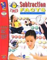 Timed Subtraction Facts, Grades 1-3