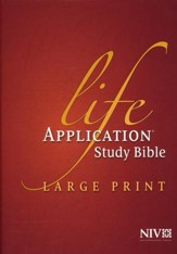 NIV Life Application Study Bible NIV Large Print, Hardcover