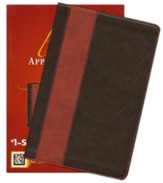 NIV Life Application Study Bible Personal Size TuTone Brown/Tan LeatherLike