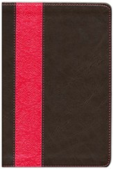 NIV Life Application Study Bible Personal Size TuTone Dark Brown/Coral LeatherLike