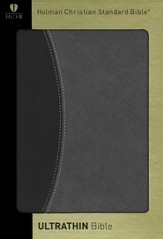 HCSB UltraThin Bible, Black/Gray Duotone Simulated Leather