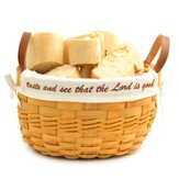 Taste and See That the Lord Is Good Bowl Basket, White Liner