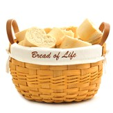 Bread of Life Bowl Basket, White Liner