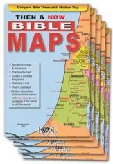 Then & Now Bible Maps, Pamphlet - 5 Pack