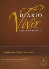 Biblia de Estudio Diario Vivir RVR 1960, Enc. Dura  (RVR 1960 Life Application Study Bible, Hardcover) - Slightly Imperfect