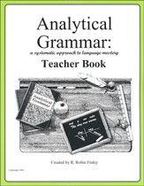 Analytical Grammar Teacher Book