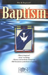 Baptism, Pamphlet  - Slightly Imperfect