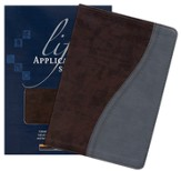 KJV Life Application Study Bible, TuTone Dark Chocolate/Dusty Blue Indexed Leatherlike