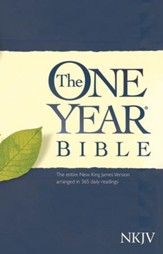 The NKJV One Year Bible, Softcover - Slightly Imperfect