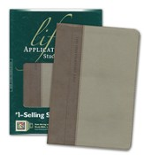 NLT Life Application Study Bible, TuTone Taupe/Stone Leatherlike