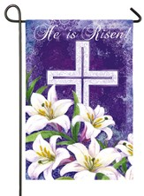 He Is Risen, Cross and Lilies Flag, Small