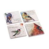 Birds of Faith Coasters, Set of 4