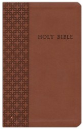 NLT Premium Value Compact Slimline Bible, Brown Leatherlike
