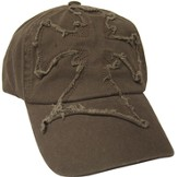 Frayed Cross Cap Brown