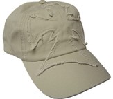 Frayed Cross Cap Khaki