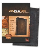 NLT Every Man's Bible, Rustic Brown Imitation Leather