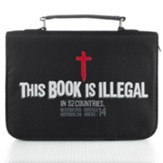 This Book is Illegal Bible Cover, Black, Large