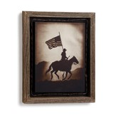 American Cowboy Barnwood Shadow Box