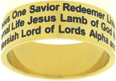 Names of Jesus Ring Gold Size 6
