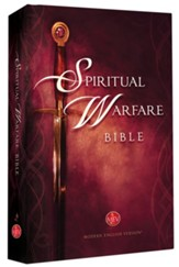 MEV (Modern English Version) The Spiritual Warfare Bible Hardcover - Imperfectly Imprinted Bibles