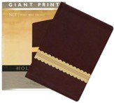 NLT Holy Bible, Giant Print TuTone Leatherlike Wine/Gold